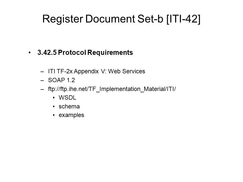 Register Document Set-b [ITI-42]